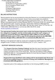 garrison agreement procedures guide u0026 support services catalog pdf