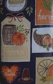 fall vinyl tablecloth 52 x52 autumn animals bountiful harvest