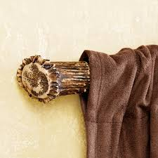 antler curtain rod ends pair inside decor pinterest