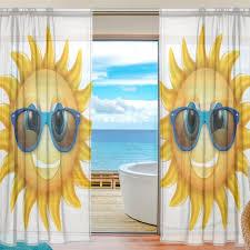Sheer Door Curtains Online Shop Cartoon Sheer Door Curtain Panels Cool Sun Wear