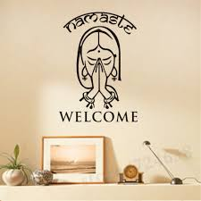 namaste home decor welcome namaste wall decals vinyl art wall stickers home decor