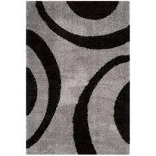 Black And Beige Rug Shag 5 X 8 Area Rugs Rugs The Home Depot