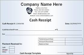 cash invoice sample receipt template samples