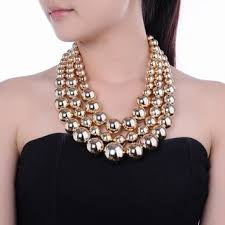 big pearl necklace wedding images Best chunky wedding necklaces products on wanelo jpg
