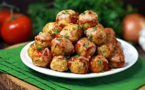meatball recipe idea from rachael ray with sweet and sour cabbage