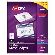 amazon com avery top loading garment friendly clip style name