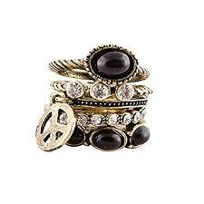 black metal rings images Buy habors black metal ring for women online at low prices in jpg
