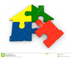 puzzle pieces in shape of house royalty free stock image image