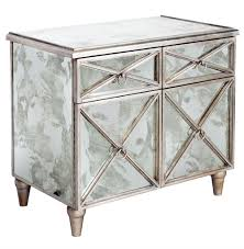 Mirrored Bar Cabinet Ritz Regency Antique Mirror Silver Crosshatch Bar Cabinet