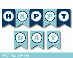 printable birthday banner in blue colors pb 36 u2013 js digital paper