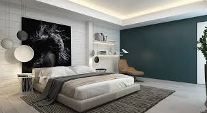 Blue Accent Wall Bedroom by Bedroom Bedroom Wall Ideas White Fur Throw Pillows Table Lamps