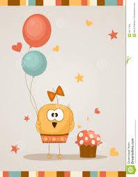 cute happy birthday card vector illustration royalty free stock