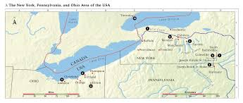 Ohio Canal Map by Church History Maps