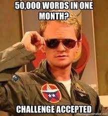 Challenge Meme Nanowrimo Meme D Challenge Accepted Nanomememo