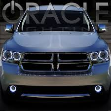halo lights for 2013 dodge charger 2011 2012 dodge durango oracle headlight halo kit installed