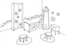coloriage de chambre de fille dessin mur chambre idées de design d intérieur