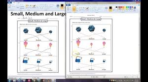 preschool lessons learn the word small medium and large