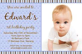 birthday invitations and thank you photo cards for boys with blue