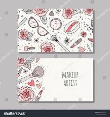 business card template makeup artist vector stock vector 359961407