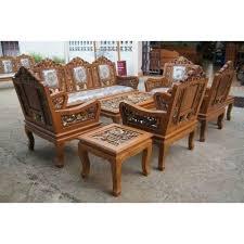 Teak Wood Sofa Set At Rs  Set Dharskar Road Itwari - Teak wood sofa sets