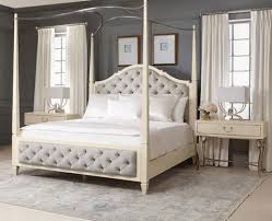 Upholstered Canopy Bed Savoy Place Upholstered King Poster Bed Luxe Home Philadelphia