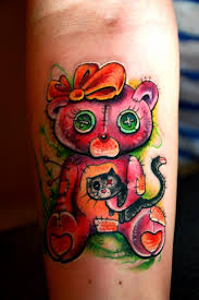 teddy bear tattoo art and designs