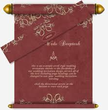 Scroll Invitation All Scroll Style Email Wedding Card Templates U2013 Luxury Indian