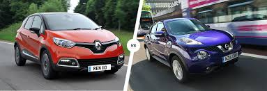 kereta nissan note renault captur vs nissan juke crossover clash carwow