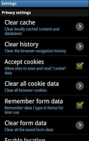how do i clear cookies on my android phone clear apple maps history remove location history from apple maps