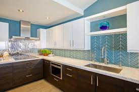 Pictures Of Kitchens With Backsplash Glass Tile Backsplash Chevron Island Stone