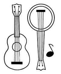 learning years christmas coloring pages guitar and banjo