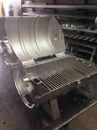 Master Forge Patio Barrel Charcoal Grill by The Finished Stainless Steel Keg Grille Tags Beer Keg Cooking