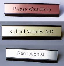Desk Signs For Office Office Desk Name Plates Custom Metal Office Signs Desk Signs