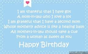 cute birthday message e card birthday wishes for mother in law