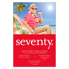 seventy red photo 70th birthday invitations paperstyle