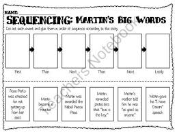 sequence words worksheet worksheets