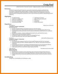 computer service technician resume sample rapidlyheading tk
