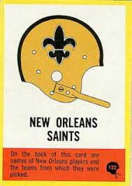 1967 football cards new orleans saints
