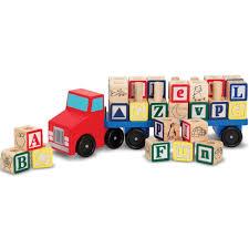 wooden truck alphabet blocks wooden truck clever little monkey