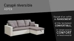 canapé reversible aspen canapé convertible fonction coffre