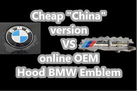 difference between cheap vs genuine bmw emblems and install