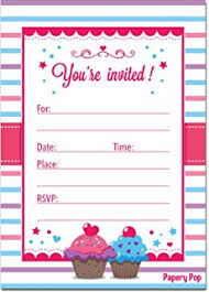 hallmark birthday invitations cupcake pack of