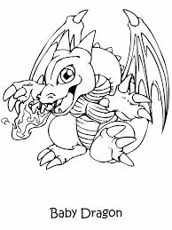Bébé dragon à colorier  KewlFRcom