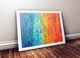 Turquoise And Orange Bedroom Fiesta Orange U0026 Teal Abstract Wall Art Print By Louise Mead