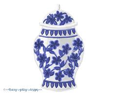 white ginger jar blue and white ginger jar clip art watercolor clipart