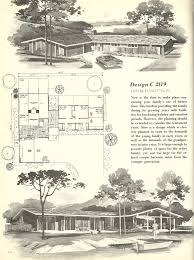 vintage house plans 1960s houses mid century homes modern