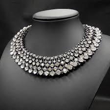 rhinestone choker collar necklace images Luxury crystal choker collar necklace women fashion jewelry jpg