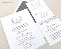 monogram wedding invitations laurel wreath wedding invitations monogram wedding invitations