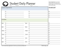 best free printable weekly planner day planner printable student weekly planner download student