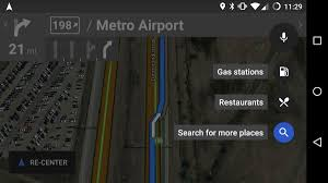 Save Route Google Maps by Google Maps For Android Displays Quick Stops Along Your Route